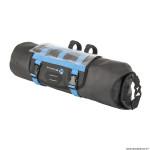 Sacoche de cintre-guidon vélo noir-bleu fixation velcros (Lg 50cm x D15 - 11 litres)