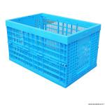 Accessoire remorque utilitaire bac plastique pliant (l59xl39xh33) couleur bleu pour PR152685