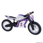 Draisienne bois kiddimoto superbike moto knievel blanc
