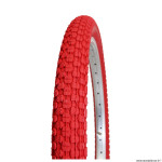 Pneu vélo BMX 20x1.95 marque Kenda crampons couleur rouge