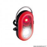 Eclairage vélo à pile avant - arrière microduo couleur rouge à led rouge-blanc marque Sigma