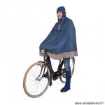Poncho vélo pour adulte taille L-XL marque Tucano garibaldina avec capuche et housse transport couleur bleu