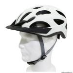 Casque vélo ville adulte taille 52-59 marque Polisport villego couleur crème system quick lock avec lumière intégrée