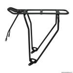 Porte bagage vélo arrière a tringles alu noir 28-26 pouces-700c pour produit mik gamme basil (tringles 365mm)