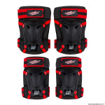Protection genouillères et coudières disney cars couleur noir-rouge (x4)