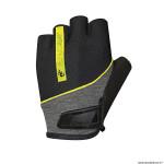 Gants vélo adulte court taille S marque Chiba streamliner couleur noir deco jaune