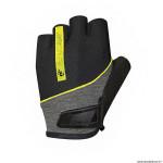 Gants vélo adulte court taille M marque Chiba streamliner couleur noir deco jaune