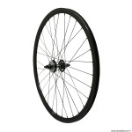 Roue vélo route - fixie - piste 30mm couleur noir arrière double filetage avec pignon 16 dents