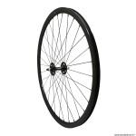 Roue vélo route - fixie - piste 30mm couleur noir avant