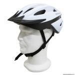 Casque vélo route-vtt taille 54-58 marque Polisport sport ride couleur blanc avec visière et system easy dial