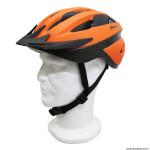 Casque vélo route-vtt taille 54-58 marque Polisport sport ride couleur orange avec visière et system easy dial
