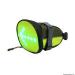 Sacoche de selle vélo avec signalisation intégrée avec indicateur direction et télécommande cintre sans fil (lg18xl12xh11)