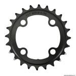 Plateau vélo VTT 4 branches double 24 dents diamètre 64 2x10 intérieur acier noir marque FSA *Prix Spécial !