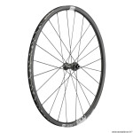 Roue vélo route 700 c1800-23 cross spline disc centerlock axe 12-100mm avant couleur noir (hauteur jante 23mm) marque DT Swiss