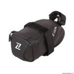 Sacoche de selle vélo iron pack s 0.5 litres couleur noir fixation double sangles marque Zéfal
