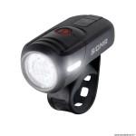 Eclairage vélo à batterie avant aura 45 lux (autonomie 6h mode standard et 21h mode éco) couleur noir recharge usb homologué marque Sigma