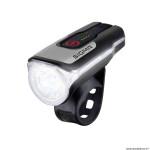 Eclairage vélo à batterie avant aura 80 lux (autonomie 4h mode standard, 6h mode medium et 15h mode éco) couleur noir recharge usb homologué marque Sigma