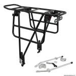 Porte bagage vélo arrière plateforme pliable sur les cotes (sans outil) alu noir mat 29-26 pouces - pour frein a disque