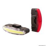 Eclairage vélo usb kit spanninga arco noir 3 fonctions standard, éco, flash