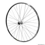 Roue vélo route 700 avant open élite couleur noir moyeu shimano tiagra couleur noir ray inox couleur noir 32 trous marque Mavic