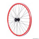 Roue vélo route - fixie - piste 30mm rouge avant