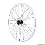 Roue vélo route - fixie - piste 30mm blanc avant
