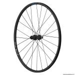 Roue vélo route 700 rs370 disc centerlock axe traversant 12-148mm arrière 11-10 vitesses couleur noir (hauteur jante 23mm) tubeless marque Shimano