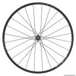 Roue vélo route 700 rs370 disc centerlock axe 12-100mm avant couleur noir (hauteur jante 23mm) tubeless marque Shimano