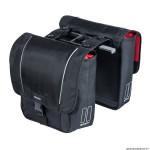 Sacoche arrière vélo double design 32 litres noir système mik marque Basil