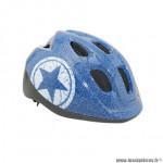 Casque vélo pour enfant 52-56cm polisport junior bleu jeans taille avec molette