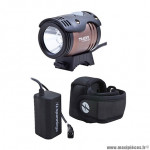 Eclairage vélo à batterie avant spanninga thor 1100 lumens (kit avec accessoire) alu brosse