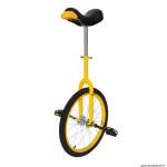 Monocycle 20 pouces couleur jaune - tige de selle réglable - roue aluminium