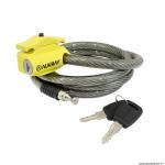 Antivol type cable à clé s.lock pour selle et vélo diamètre 12mm taille L 1.50m marque Auvray