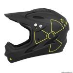 Casque intégral vélo BMX taille 53-56cm couleur fall noir deco jaune - conforme EN1078