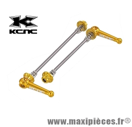 Blocage rapide VTT or marque KCNC - Pièce vélo