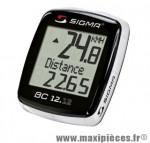 Prix spécial ! Compteur Sigma BC 12.12 avec fil 12 fonctions avec support et magnet - Compteur vélo