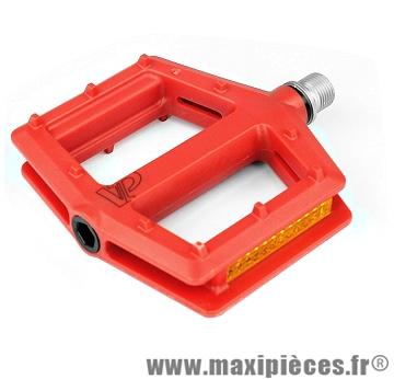 Pédales plates BMX vp-538 rouge marque VP Components - Pièce vélo