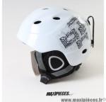 Casque de vélo ski skateboard hiver enfant XS/S 48-52cm SX-505 blanc/gris *Prix discount !