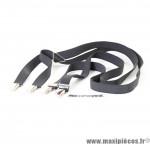 Bretelles élastiques fines noires taille unique (1.80x95 cm) *Déstockage !
