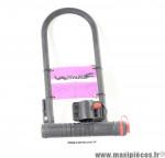 Antivol vélo en U avec support 320x105mm noir *Déstockage !