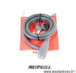 Antivol vélo spirale silicone 135cmx10mm RMS Silicon Lock noir *Déstockage !