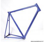 Prix discount ! Cadre de vélo homme 58 cm aluminium bleu  vintage