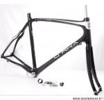Déstockage ! Cadre de vélo 100% carbone XL/58 Orka Team 700 course/route/cyclosportif avec fourche noir et blanc