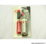 Déstockage ! Kit anti-crevaison et gonflage Roto avec cartouche Co2 VP/VS couleur rouge