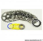 Prix discount ! Cassette vintage pour vélo 9 vitesses grise Specialites TA Khéops 16-24 dents compatible Campagnolo