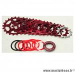 Prix discount ! Cassette vintage rouge pour vélo 8 vitesses Spécialités TA Khéops 12-21 dents compatible Shimano