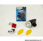Prix discount ! Kit complet pour éclairage avant et arrière du vélo avec lampe, led, catadioptres et sonnette