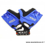 Prix discount ! Gants de vélo E-Team bleu/noir taille M marque Ekoï - Equipement cycle