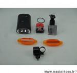 Prix discount ! Pack éclairage vélo : éclairage avant et arrière, catadioptre, réflecteur blanc et sonnette