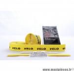 Déstockage ! Ruban de guidon VELO D2 GEL jaune avec liège + marquage noir